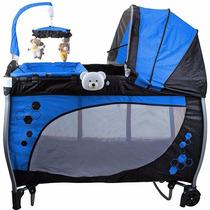 Berço Balanço Baby Style Azul - Peça Mostruário Pequeno Furo
