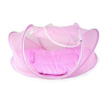 Mosquiteiro Portatil Acolchoado Rosa C/ Ziper Mosqueteiro