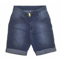 Bermuda Jeans Feminina Ciclista C/ Lycra Plus Size 44 Ao 64