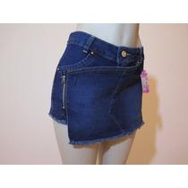 Shorts Saia Feminino Com Ziper Lateral.