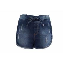 Bermuda Shorts Jeans Com Aplicação Denuncia Frete Grátis