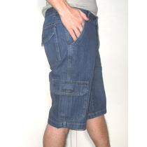 Atocadosgatos - Bermuda Jeans Cargo Com Bolsos! Tam. 38 A 54