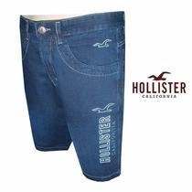 Bermuda Jeans Hollister + Frete Grátis P/ Todo O Brasil