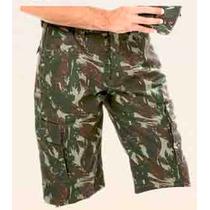 Bermuda Camuflada Masculina Rip Stop 6 Bolsos Exército