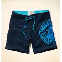 Hollister Bermuda Masculina Tamanho P Azul Marinho