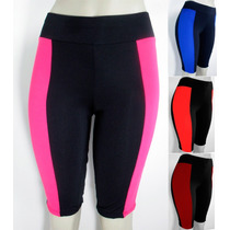 Lote 12 Bermudas Feminina Ciclista Suplex Fitness