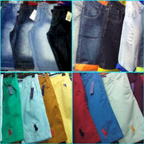 Bermuda Jeans Kit C/2 Unidades Quiksilver Hollister E Outras