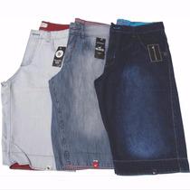 Kit Com 3 Bermudas Jeans Masculina Varias Cores Atacado