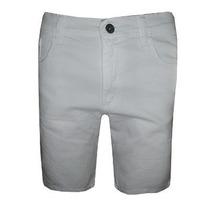 Bermuda Jeans Calvin Klein Masculina Branca