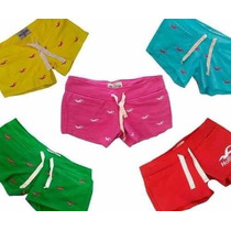 Shorts Hollister Passaros Bordados/moletom Kit 10 Atacado