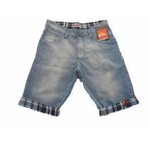 Kit C/ 5 Bermudas Jeans Masculina Atacado Várias Marcas