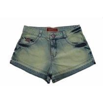 Bermuda Shorts Jeans Machado Verde Denuncia