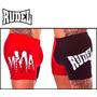 Short Rudel Mma Suplex Com Coquilha Vermelho Preto