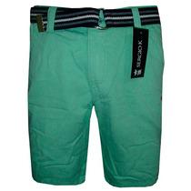 Bermuda Jeans Sergio K Verde Clara Lisa Com Cinto
