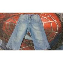 Bermuda Comprida Tipo Ciclista Infantil Jeans Kids 8 Menino