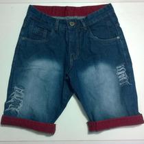 Bermuda Jeans Masculina Excelente Qualidade Oslen