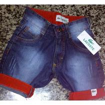 Bermudas Jeans Infantil Com 3 Bermudas