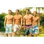 Kit Shorts Tactel 04 Peças Masculina Moda Praia