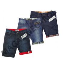 Bermuda Jeans Infantil Kit C/ 3 Peças Frete Grátis Lindas!!