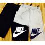 Calça Moletom Nike Shorts Nike Bermuda Kit Duas Peças