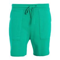 Bermuda Osklen Moletom Colour Original Preta E Verde