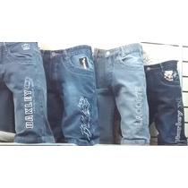 Kit C 10 Bermudas Jeans Bordadas Várias Marcas