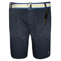 Bermuda Jeans Sergio K Preta Lisa Com Cinto