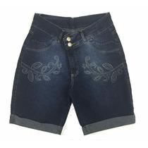 Saldo Bermuda Feminina Jeans Plus Size Com Pequenos Defeitos
