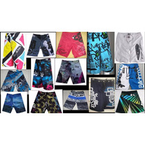 Kit 3 Shorts Tactel Maculino Surf Plus Size Extra Grande .