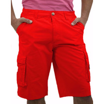 Bermuda Cargo Masculina Tecido Com Elastano Short Masculino