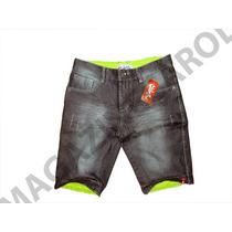 Bermuda Masculina Jeans Quik, Lacos, Hollis, Preço Baixo
