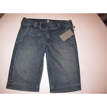 Bermuda Jeans 7 For All Mankind Tamanho 38 Pronta Entrega!!