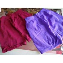 2 Shorts Cinta Modeladores Feminino Tipo Meia Calça