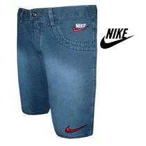 Bermuda Jeans Nike - Frete Grátis P/ Todo O Brasil
