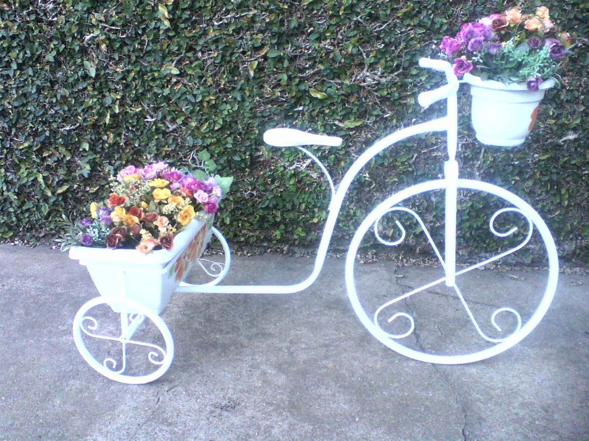 plantas de jardim lista:Bicicleta Jardineira Para Plantas, Jardim, Decoração,vasos – R$ 149