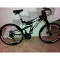 Bicicleta Full Bike Preta Aluminio 21v Freios A Disco Usada