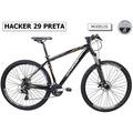 Bicicleta Oggi Hacker 29 21v Pta/laranja Tam 17/19