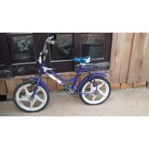 Bicicleta Infantil Azul Aro 14 Mirim