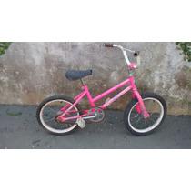 Bicicleta Infantil Rosa Aro 14 Menina Bike Mirim