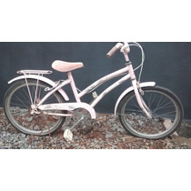 Bicicleta Brisa Infantil Rosa Antiga Aro 20
