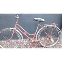 Bicicleta Bike Antiga Monark Feminina Anos 70/80 Vermelha