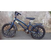 Bicicleta Infantil Antiga Mirim Aro 14 Azul Menino