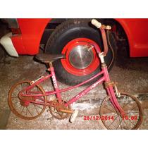 Bicicleta Cecizinha, Infantil Rosa Para Restauração