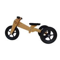 Triciclo De Madeira Infantil & Bicicleta Equilíbrio 3 Em 1