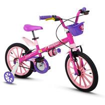 Bicicleta Aro 16 Infantil Feminina Tipo Barbie Princesas Top