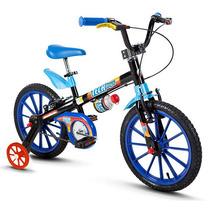 Bicicleta Aro 16 Infantil Masculino Tipo Hotwheels Max Steel