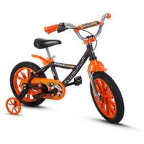 Bicicleta Aro 14 Infantil Masculina Tipo Hot Wheels Alumínio