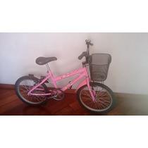 Bicicleta Barbie C/cesto Aro 20 - Usada