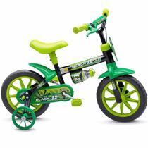 Bicicleta Criança De 3 A 5 Anos Aro 12 Menino Black Nathor