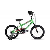 Bicicleta Aro 16 Hot Jr Com Rodinhas - Verde - Stone Bike